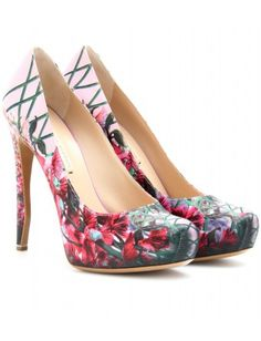 Nicholas Kirkwood Floral Printed Platform Pumps.  This is the most beautiful printed pump I've ever seen.
