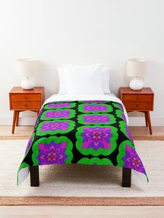 """Mandala Lotus Flower "" Comforter by Pultzar 