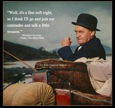 """from the film """"The Quiet man"""" starring John Wayne and Maureen O'Hara Classic Movie Stars, Classic Movies, Old Movies, Great Movies, Irish Movies, The Quiet Man Movie, Viejo Hollywood, American Legend, American Women"""