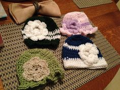 Crochet Baby Hats by Lu Crabtree