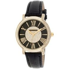 http://best-watches.bamcommuniquez.com/ladies-black-leather-strap-watch-w-black-round-dial-and-crystal-accents/