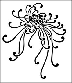 Spider Chrysanthemum stencil from The Stencil Library JAPAN range Buy stencils online Stencil code Chinese Embroidery, Embroidery Applique, Embroidery Patterns, Chrysanthemum Drawing, Chrysanthemum Flower, London Tattoo, Stencil Patterns, Stencil Designs, Dahlia
