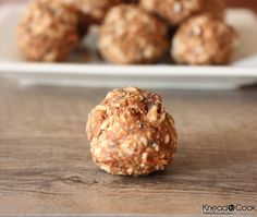 No-bake Energy Balls  1 c of old-fashioned oats  1 c of toasted coconut flakes  1/2 c of chocolate chips (I used dark chocolate)  1/2 c of almond butter (you can use whatever nut butter you have in your pantry)  1/2 c of flaxseed meal  1 tbl of chia seeds  1/3 c + 1 /4 tsp of honey (I used raw)  1 tsp of vanilla extract  1 pinch of salt
