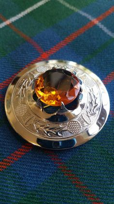 SOLD  Vintage Sporran Pin Scottish Silver and by RoseMackenzieEstate
