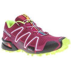 472f2982a03b Women s Salomon Speedcross 3 Trail Running Shoe shown in Mystic  Purple Black Fluorescent Yellow