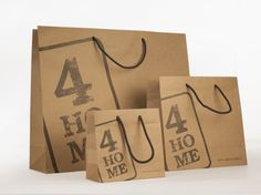 Avana paper bag for 4HOME / Giustacchini Packaging