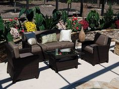 Wicker Furniture Makes The Patio Look Posh Affordably ~ gtrinity.com Outdoor Design Inspiration