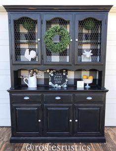 Diy Furniture Projects, Furniture Makeover, Home Projects, Hutch Makeover, Dining Room Hutch, Dining Room Furniture, Kitchen Hutch, Refurbished Furniture, Repurposed Furniture