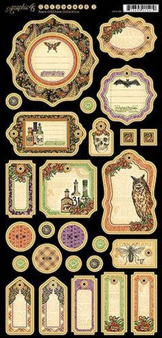 Graphic 45 - Rare Oddities Collection - Die Cut Chipboard Tags - One Vintage Diy, Vintage Labels, Vintage Crafts, Vintage Ephemera, Vintage Images, Graphic 45, Scrapbook Supplies, Scrapbook Paper, Scrapbooking