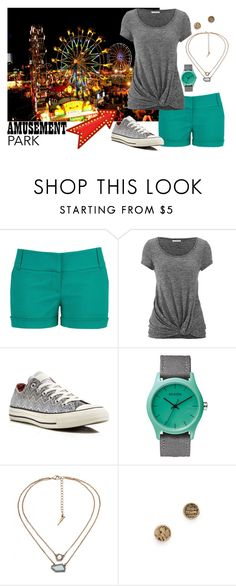 """""""Casual teal and grey for a day at an amusement park"""" by ericajayne24 ❤ liked on Polyvore featuring maurices, Converse, Nixon, Snash Jewelry and amusementpark"""