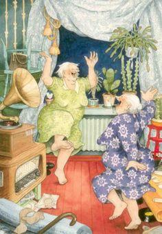 "Inge Look...  The ""Aunties"" always joyful and exuberant!"