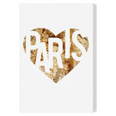 I Love Paris Gold Canvas Print, Oliver Gal at Joss and Main
