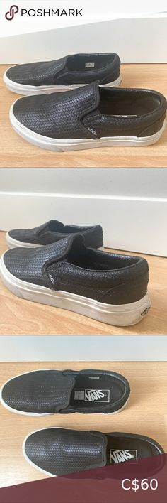 Vans Braided Slip On Low profile slip ons Braided detailing Minimal scuff marks, otherwise excellent condition Vans Shoes Sneakers Vans Slip On Shoes, Black Slip On Sneakers, Lace Sneakers, Leather Vans, Leather Sneakers, Rainbow Vans, Platform Vans, Red Vans, Sparkle Shoes