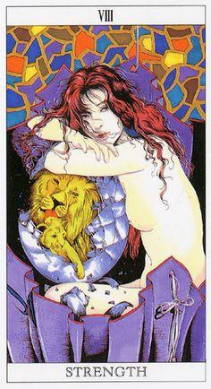 Love and Mystery Tarot by Yoshitaka Amano: Strength