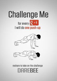 Challenge Me to Push-Ups on Google+