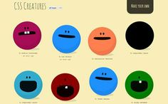CSS creatures is a fun and exciting design.