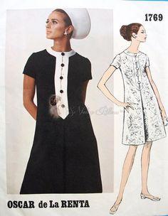 Vintage Vogue 1960s Oscar de La Renta