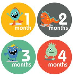 Lucy Darling Little Monster Baby Sticker Gift by LucyDarlingShop