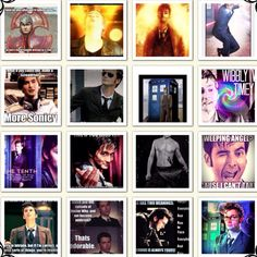 Different pic's of David Tenant AKA the 10th doctor who.