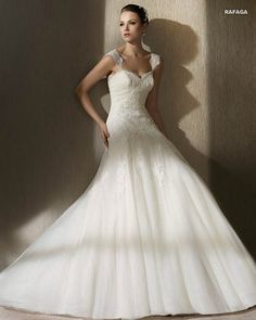 MORE INFO: Pronovias San Patrick Bridal Gown RAFAGA  http://www.trudysbrides.com/Pronovias-Bridal-Gowns.asp