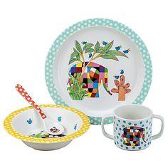 Buy Petit Jour Elmer the Elephant Dinner Set, Multi Online at johnlewis.com