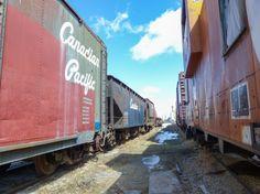 Row of cars Beiseker Railway Museum