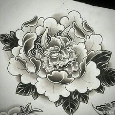 flower tattoo Japanese Flower Tattoo, Japanese Flowers, Asian Tattoos, Black Tattoos, Pez Koi Tattoo, Tattoo Oriental, Hannya Tattoo, Asian Flowers, Knee Tattoo