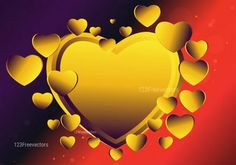 Red Purple and Yellow Heart Wallpaper Background Vector Image Vector Free Download, Free Vector Art, Vector Graphics, Heart Wallpaper, Wallpaper Backgrounds, Red Purple, Yellow, Valentines Day Background, Heart Background