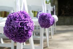 tissue paper pomanders  flower balls ceremony decorations- We could make this!