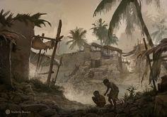 ArtStation - Egyptian Slums, Andrew Bosley