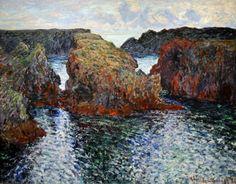 Claude Monet (French, 1840-1926) Rocks at Port-Goulphar, Belle-Ile, (1886)