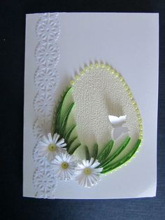 And this is an offer for those who still send traditional Christmas cards . - And this is an offer for those who still send traditional Christmas cards … – - Quilling Birthday Cards, Quilling Cards, Easter Art, Easter Crafts, Quilled Creations, Paper Quilling Designs, Diy Ostern, Card Sentiments, Watercolor Cards