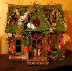 Magical Fairy House fit for any woodland Pixie. Etsy.