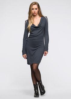 Gebreide jurk steengrijs/zilverkleurig - RAINBOW bestel online - bonprix.nl €20