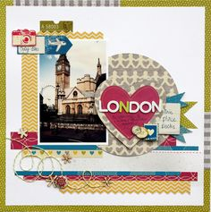Great layout for a big photo. my scrapbook projects :: londonA1-001.jpg picture by piradee - Photobucket