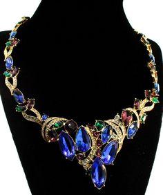 Huge Trifari TM Goldplated Rhinestone Articulated Necklace Juliana D E Earrings | eBay