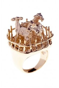 Silly goat ring via Domestic Sluttery