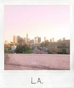 mine skyline beautiful sky street city picture Los Angeles urban polaroid freeway sunset LA buildings alsdsfksdfj Into The Wild, Damien Chazelle, Polaroid Pictures, Polaroids, Polaroid Frame, Wall Pictures, Wanderlust, City Of Angels, California Dreamin'