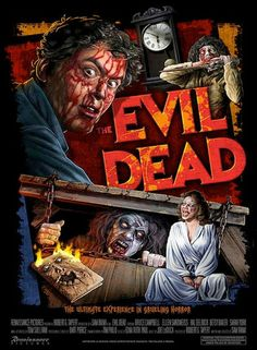 """The Evil Dead...OMG I saw this in the drive-in and when the chick got shanked in her crotch with a tree limb I screamed...""""OMG MY GIRLIE PARTS!"""" really loud and all the people in the cars around me started laughing...Good times, good times... ;)"""