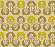 tree_hearts_yellow fabric by holli_zollinger on Spoonflower - custom fabric - I think this designer is a favorite of mine! Hope she gets picked up by a fabric line...