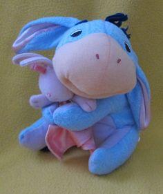 FISHER PRICE Washable Baby #EEYORE Bunny #Lovie Blanket Soft TOY Nursery #Pooh #FisherPrice