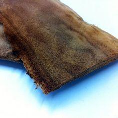 Tanned mushroom vegetable leather