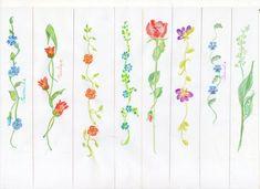 Mes fleurs au crayon aquarelle