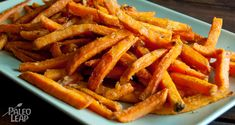 A simple sweet potato fries recipes for those times when you have a craving for carbohydrates on the Paleo diet.