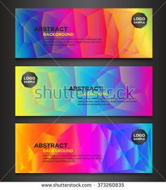 colorful polygon banner with Abstract banner colorful banner vector illustration, banner template,Abstract geometric triangular banners,banners collection Banner Vector, Banner Template, Banners, Illustration, Colorful, Templates, Abstract, Collection, Summary