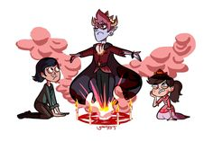 "gravityfying: ""SVTFOE fanart that I dumped on Reddit for about two weeks. The Starco child's name is Cressida. Just some things I made for fun. "" Omg !!!! Chicos! , en serio, MIREN ESTO ajjsjdjfkfkfk..."