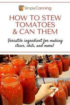 Canning stewed tomatoes doesn't have to be boring! This recipe is a great way to preserve your extras into something more nutritious and delicious than you can buy at the store. #SimplyCanning #CanningStewedTomatoes #CanningTomatoes Stewed Tomato Recipes, Canning Stewed Tomatoes, Canning Vegetables, Tomato Sauce Recipe, How To Stew Tomatoes, Can Tomatoes, Freezing Vegetables, Veggies, Salsa Recipe