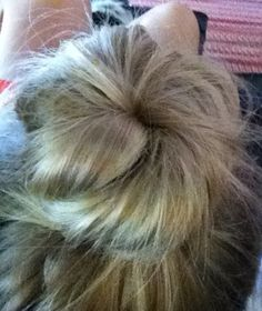 Easy bun for long thick hair