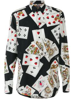 5eee80012ed95 Dolce   Gabbana Playing Cards print shirt Casual Shirts For Men
