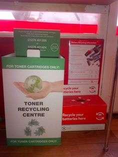 We recycle used toner cartridges.  Bring your old cartridge into our store and dispose of safely for FREE :)  #environment #recycle #ethical #green #greenwich #savetheplanet